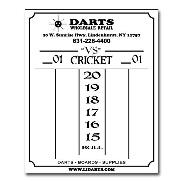 pin cricket darts score sheet on pinterest