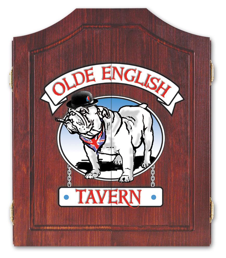 Olde English Tavern Bulldog Cabinet Image
